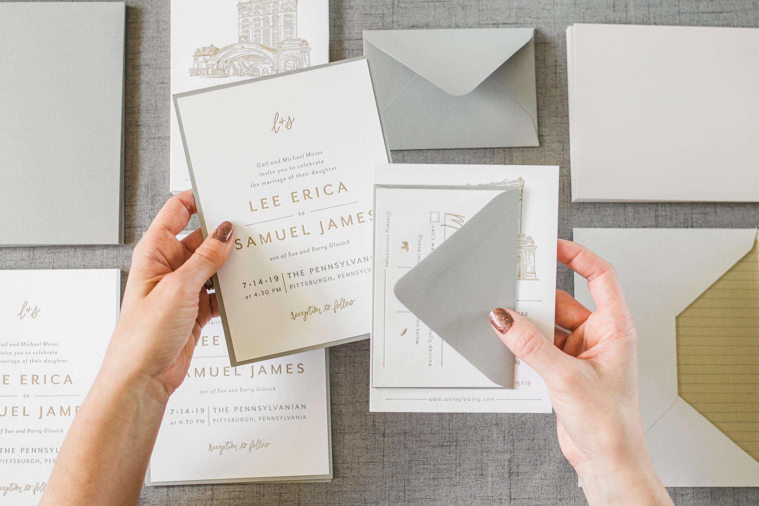 Assembling Wedding Invitations