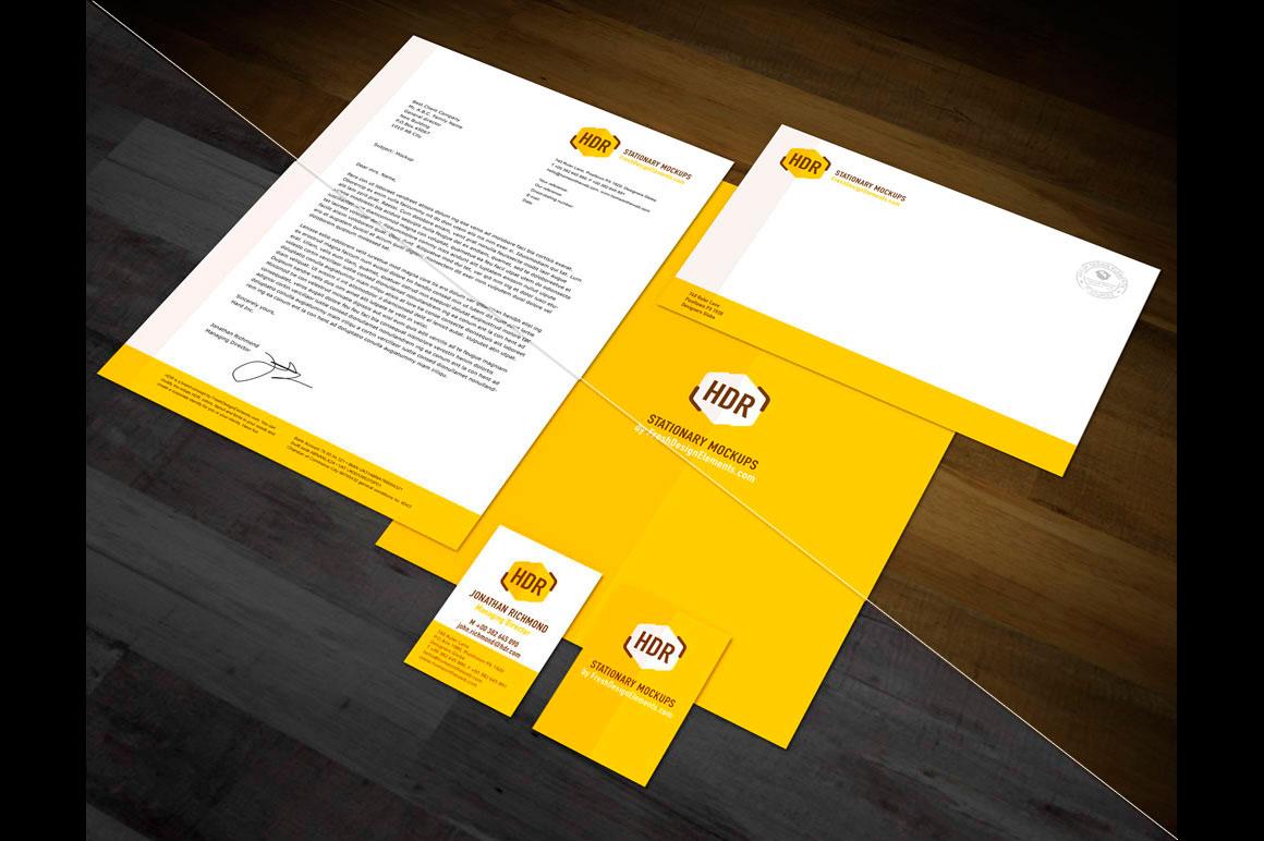 European Format Stationery Mockup Vol 1 by Fresh Design
