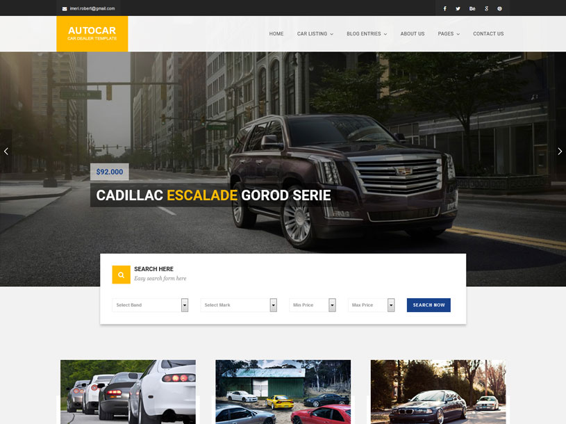 These car website templates can be used in various purposes like spare parts shops, auto tuning, car clean service, car dealership, car repair,. 98 Best Car Auto Website Templates Free Premium Freshdesignweb