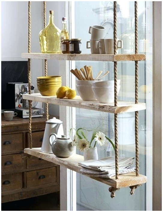 Hanging Glass Shelves From Ceiling