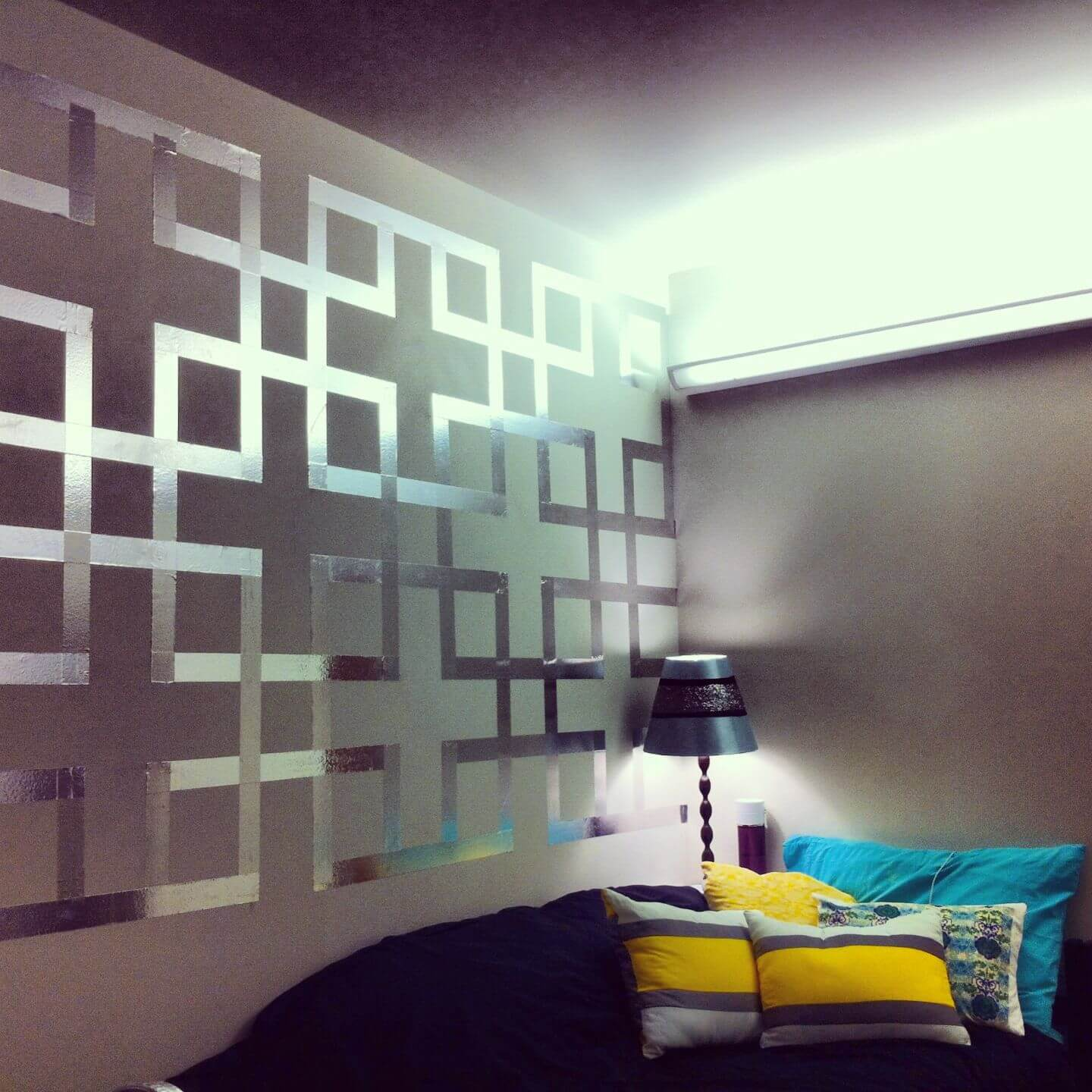 Modern Wall Paint Creative Design Using Painters Tape