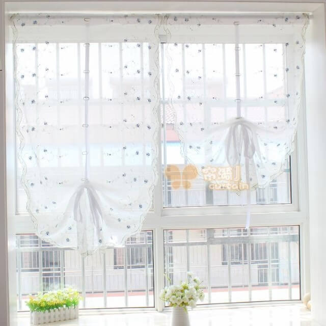 flower Balloon Curtains for Living Room