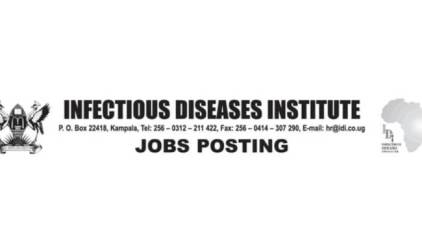 Infectious Diseases Institute Jobs 2019 - 2 Diploma Field