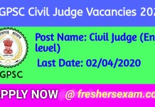 CGPSC Civil Judge Recruitment 2020 | Apply link