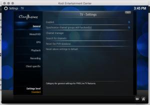 Kodi Live-TV configuration