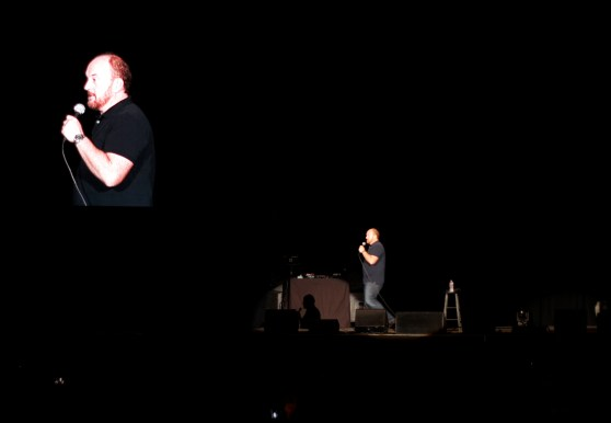 Louis CK at Gexa Energy Pavilion in Dallas, TX. Photo by Preston Barta.