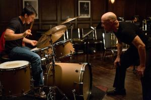 Miles Teller and J.K. Simmons clash in WHIPLASH. Photo courtesy of Sony Pictures Classics.