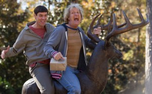 Jim Carrey and Jeff Daniels return to the big screen as Lloyd and Harry in Dumb and Dumber To. Photo courtesy of Universal Pictures.