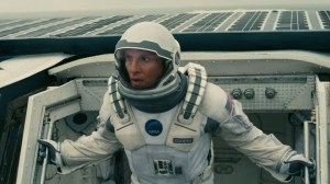 Matthew McConaughey plays a man who heads to another galaxy to save humanity in Interstellar.