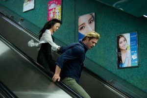 Wei Tang and Chris Hemsworth star in BLACKHAT. Photo courtesy of Universal Pictures.