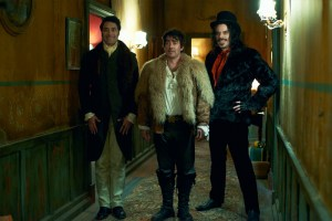 Taika Waititi, Jonathan Brugh and Jemaine Clement star WHAT WE DO IN THE SHADOWS. Photo courtesy of Unison Films, Paladin and The Orchard.