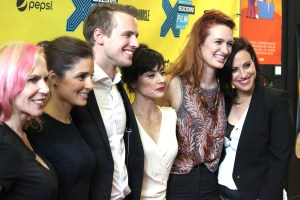 Marti Noxon, Shiri Appleby, Freddie Stroma, Constance Zimmer, Breeda Wool and Sarah Gertrude Shapiro at the UnREAL premiere at SXSW 2015.
