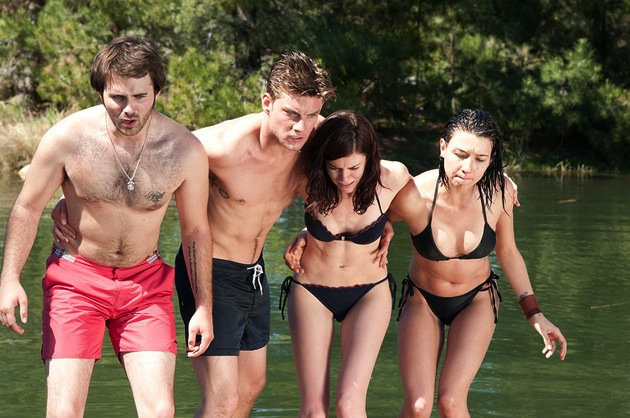 Hutch Dano, Jake Weary, Rachel Melvin and Cortney Palm.