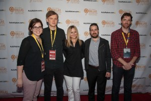 SOME BEASTS' Courtney Ware (producer), Cameron Bruce Nelson (writer/director), Heather Kafka (talent), Frank Mosley (talent) and HutcH on the red carpet at this year's Dallas International Film Festival. Photo courtesy of the Dallas Film Society.