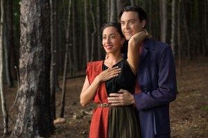Ruth (Oona Chaplin) and Ira (Jack Huston) look to a bright future together.  Photo courtesy of 20th Century Fox/ Michael Tackett.