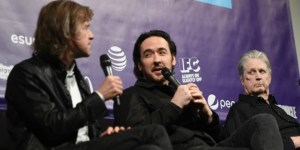 Director Bill Pohlad, John Cusack and Brian Wilson at the SXSW world premiere of LOVE & MERCY. Photo courtesy of Getty Images.