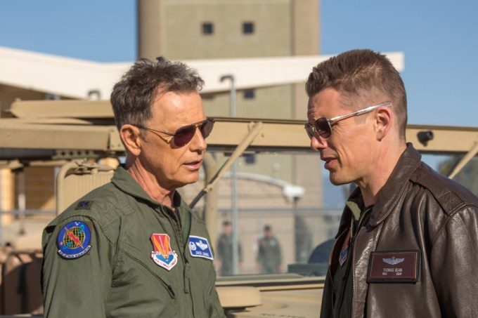Bruce Greenwood and Ethan Hawke in GOOD KILL. Photo courtesy of IFC Films.