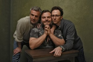 From Left to Right Andrew Mogel, Jack Black and Jarrad Paul.