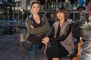 Shiri Appleby and Constance Zimmer star as Rachel and Quinn in UnREAL. Photo courtesy of Lifetime Television.