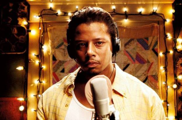 Terrence Howard as Dee-Jay about to lay down a sweet track on the mic.
