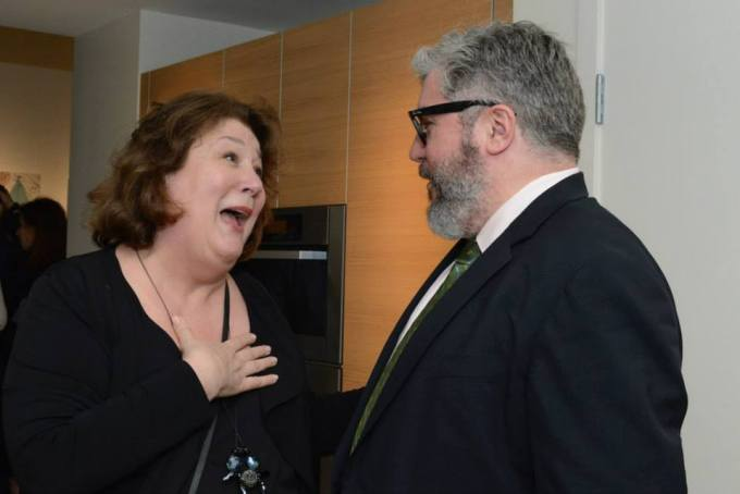 Actress Margo Martindale and Duralde at the 45th annual USA Film Festival. Photo courtesy of ©Lisa Stewart Photography.