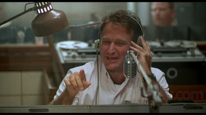 Adrian Cronauer (Robin Williams) Building Morale for Vietnam Soldiers one rebellious act at a time.