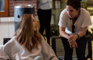 Taissa Farmiga (left) on-set with director Hannah Fiddell (right)