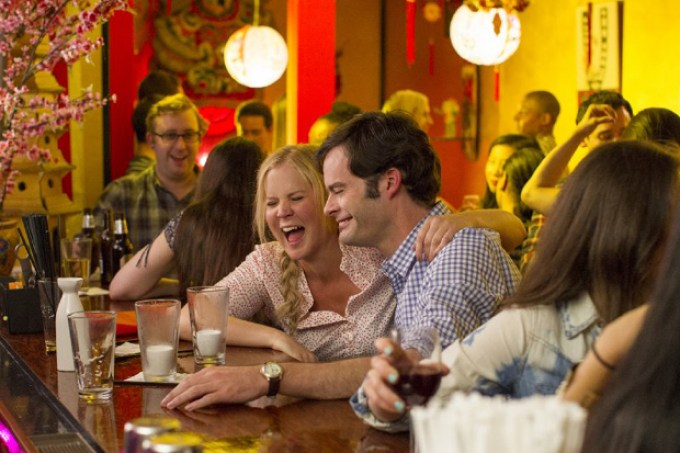 Amy Schumer and Bill Hader in TRAINWRECK courtesy of Universal Pictures
