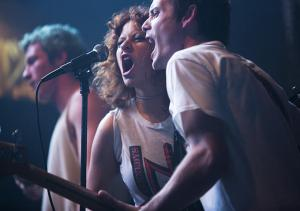 Alia Shawkat and Anton Yelchin in GREEN ROOM. Photo courtesy of A24.