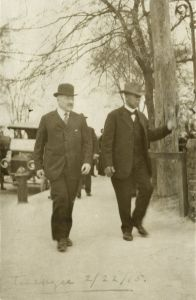 Julius Rosenwald and Booker T. Washington, Tuskegee Institute, 1915. Photo courtesy Special Collections Research Center, University of Chicago Library/TNS.