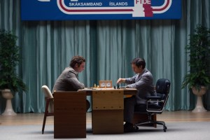 Leiv Schreiber and Tobey Maguire in PAWN SACRIFICE. Photo courtesy of Bleeker Street Films.