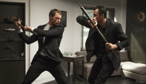 Ed Skrein, left, stars as Frank Martin. Photo courtesy of EuropaCorp USA.