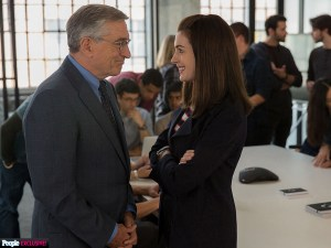 Robert DeNiro and Anne Hathaway star in THE INTERN. Photo courtesy of Warner Bros.