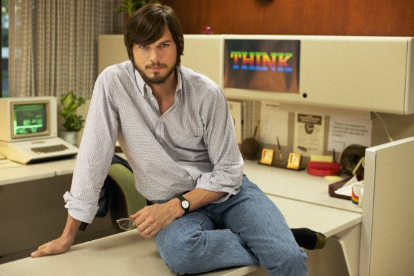 Ashton Kutcher playing dress up as Steve Jobs in JOBS (2013) Photo courtesy of Open Road Pictures