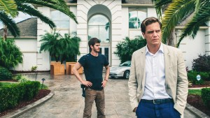 Andrew Garfield as Dennis Nash, and Michael Shannon as Rick Carver. Photo courtesy of Broad Green Pictures.