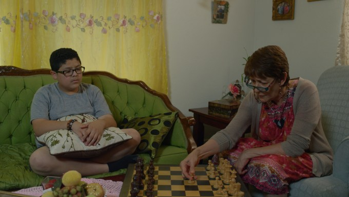 Rico Rodriguez as Jose, and Ivonne Coll as Abuelita. Photo courtesy of Avila Entertainment.
