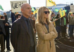 Billy Bob Thorton and Sandra Bullock in OUR BRAND IS CRISIS. Photo courtesy of Warner Bros.