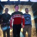 From Left to right Anthony Mackie, Joesph Gordon-Levitt & Seth Rogen enter the Nutcracka Ball (photo courtesy of Sony Pictures)