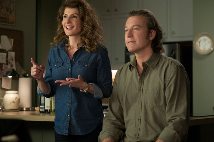 Nia Vardolos and John Corbett star in MY BIG FAT GREEK WEDDING 2. Courtesy of Universal Pictures.