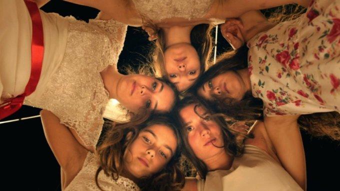The girls of MUSTANG (Elit Iscan, Günes Sensoy, Doga Zeynep Doguslu, Tugba Sunguroglu, Ilayda Akdogan). Courtesy of Cohen Media Group.
