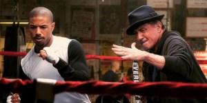 Michael B. Jordan as Adonis Johnson, Sylvester Stallone as Rocky Balboa in CREED. Photo courtesy of Warner Bros.