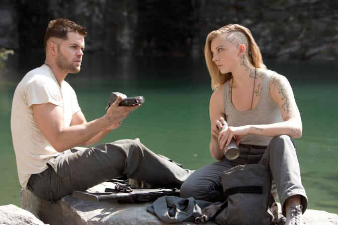 Chatham as Castor, Natalie Dormer as Cressida. Photo courtesy of Lionsgate.