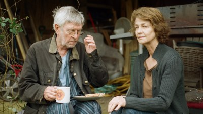 Tom Courtenay and Charlotte Rampling in Andrew Haigh's film 45 YEARS. Photo courtesy of IFC Films.