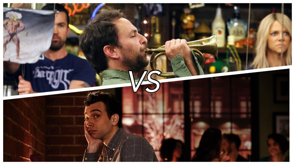Wednesday TV Smackdown: 'IT'S ALWAYS SUNNY' (Season 11) vs. 'MAN SEEKING WOMAN' (Season 2)