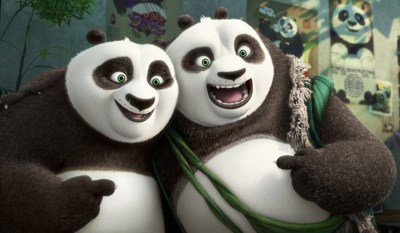 Li (Bryan Cranston) and Po (Jack Black) bond in KUNG FU PANDA 3. Courtesy of DreamWorksAnimation.