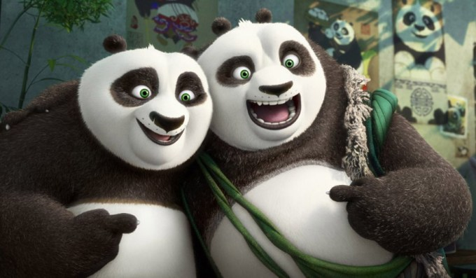 Li (Bryan Cranston) and Po (Jack Black) bond in KUNG FU PANDA 3. Courtesy of DreamWorksAnimation.