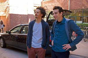 "MAN SEEKING WOMAN -- ""Wings"" -- Episode 201 (Airs Wednesday, January 6, 10:30 pm e/p) Pictured: (l-r) Eric Andre as Mike, Jay Baruchel as Josh. Photo courtesy of Michael Gibson/FX."