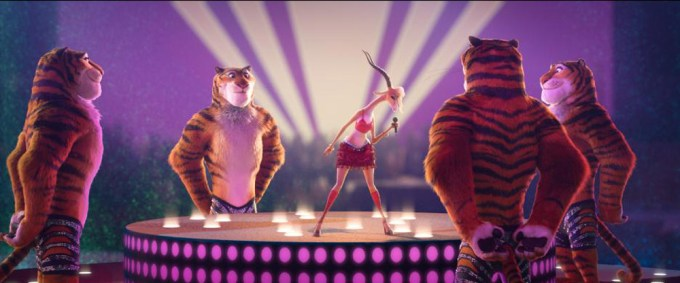"Shakira sings as ""Gazelle,"" a socially conscious celebrity with equal parts talent and heart, in ZOOTOPIA. Courtesy of Walt Disney Pictures."