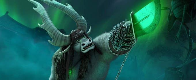 Kai (J.K. Simmons) unleashes selfishness in KUNG FU PANDA 3. Courtesy of DreamWorks Animation.