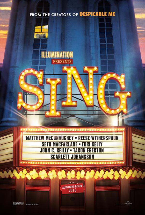 SING teaser poster